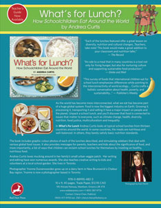 What's for Lunch? and What's On My Plate? Flyer (3 mb)